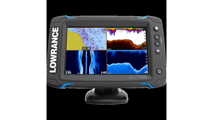Lowrance Elite-7 Ti with Mid/High/TotalScan™ C-MAP | Gold